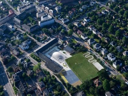 BIG Completes Sports & Arts Expansion in Hellerup, Denmark