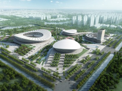 Construction of SIP Sports Center in Suzhou has started. China