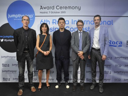 Ma Yansong presents the awards of the sixth edition of Roca´s international design competition, jumpthegap