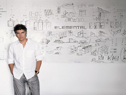Alejandro Aravena of Chile receives the 2016 Pritzker Architecture Prize