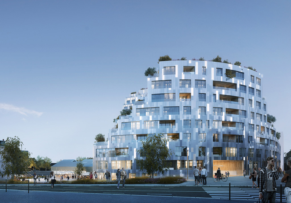 MVRDV win the competition for a new 8,200m2 residential development in Rennes, France